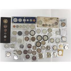 Canadian Silver Dollar PL Mint sets,  1962-1967, 28 sets.