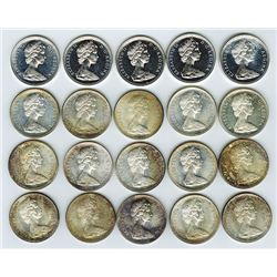 Canadian Silver Dollars 1967 Roll of 20 pieces.