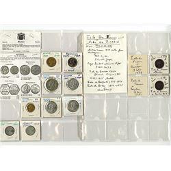 Isle de Bourbon & Reunion, 1779-1969, Group of 11 Coins