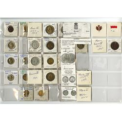 Monaco Principality, 1837-1982, Group of 25 Coins