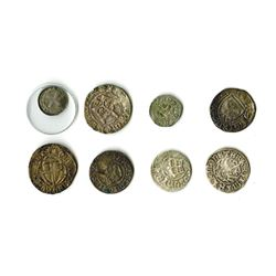 Poland Kingdom, 11th-16th Century Group of 8 Early Silver Coins