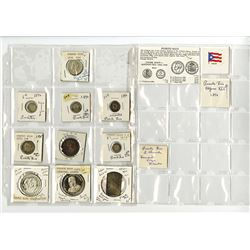 Puerto Rico Spanish Colony & US Territory, 1896-1973, Group of 10 Coins