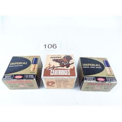 3 boxes assorted 12 gauge 2 3/4""
