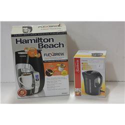 HAMILTON BEACH FLEX BREW & SUNBEAM ELECTRIC KETTLE