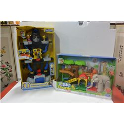2 FISHER PRICE PLAY SETS (BATMAN & ELEPHANT)