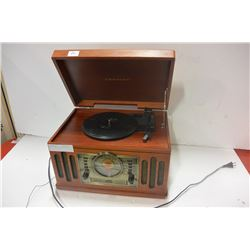 WOOD RECORD, CD, TAPE PLAYER