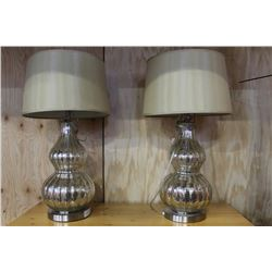 TWO DECORATIVE TABLE LAMPS AND SCONCES