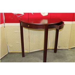2 DOOR MAHOGANY FINISH HALL TABLE