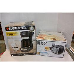 B & D TOASTER & COFFEE MAKER