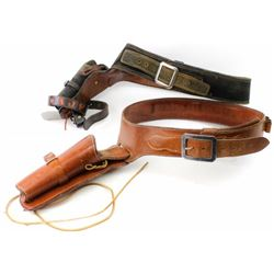 Collection of 2 fast draw holsters including
