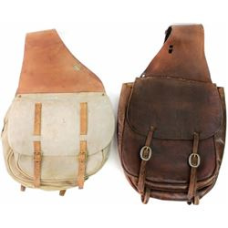 Collection of 2 pair saddle bags includes