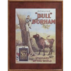 Nicely framed and mated reprint Bull Durham