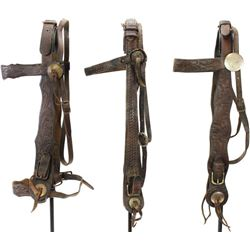 Stamped headstall collection of 3 includes