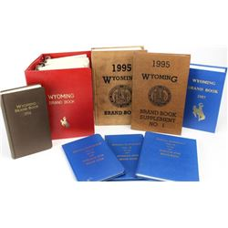 Collection of Wyoming brand books including