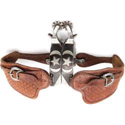 Double mounted spurs made by Sam Jenkins Clvis NM