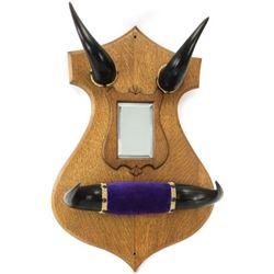 Good Victorian period buffalo horn hat