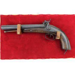 Antique smooth bore percussion pistol
