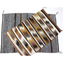 Collection of 2 Navajo rugs both excellent