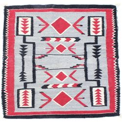 Navajo storm pattern rug with nice tight weave