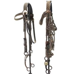 Collection of two headstalls including