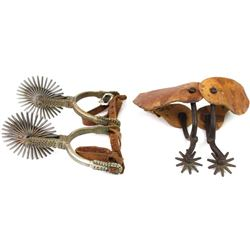 Collection of 2 pair spurs includes large