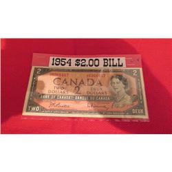 1954 $2.00 bank note