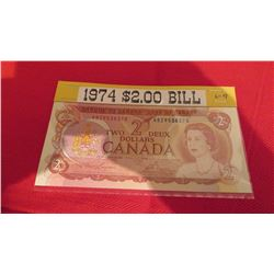 1974 $2.00 Canadian banknote