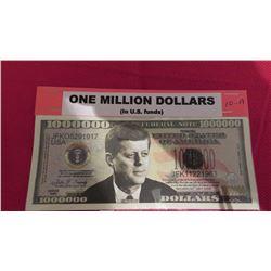 US one million – JF Kennedy - JohnWayne