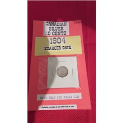 Canadian King Edward VII Silver 10 cents 10 cents – more than 100 years old