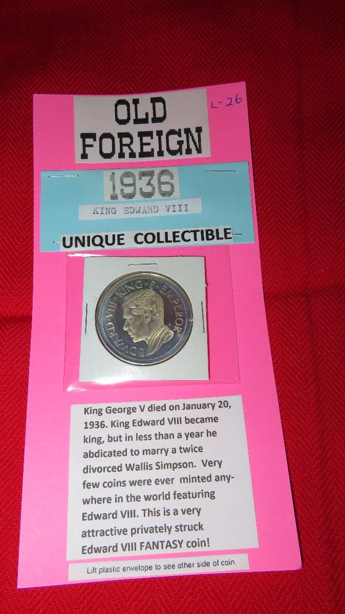 Old foreign 1936 King Edward VIII Fantasy coin