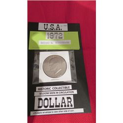 1972 US Dwight D Eisenhower Dollar historic collectable
