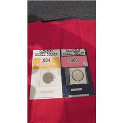 Canadian nickel dollars 1984