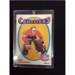 1971 O Pee Chee Ken Dryden Rookie Hockey Card
