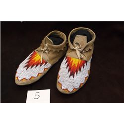"""Sioux Beaded Moccasins -10.5""""Long"""