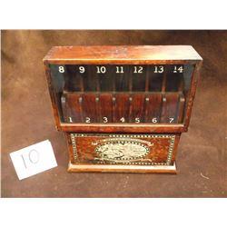 Original Boye Needle Company -Fish Hook Display –Patent 1919