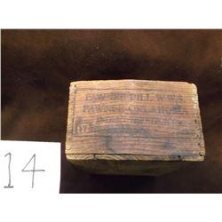Marked Pawnee Bill W.W.S Pawnee, Oklahoma -Indian Territory Box