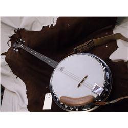 Epiphone By Gibson Banjo, One String Missing, Shoulder Strap