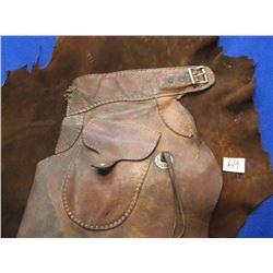 "Marked Visalia Stock Saddle Co., San Francisco, Batwing Chaps, Rough, 41""L"