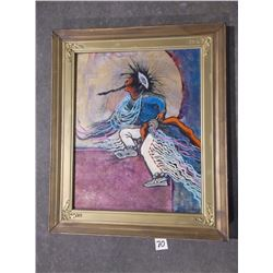 """Marked Rae H Porter 1991, Acrylic on Canvas, Titled """"Boy Dance"""", 25.5""""H x 21.5""""W"""