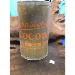 Old Cardboard, Johnston's Cocoa Barrel, Robert A. Johnston Company, Milwaukee, Wisconsin
