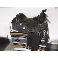 Marked G. D'Ambose Maker, Payson AZ. Saddle, Silver Mounted, Fully Floral Carved , Pleasure Riding S