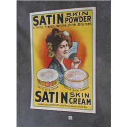 "Original Satin Skin Powder, Poster on Poster Board, 42"" x 28"