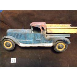"Antique Tin Truck, 18.5""L x 6""W x 7""H, Back fender loose"