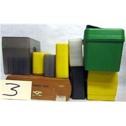 BOX LOT AMMUNITION CASES AND HULLS