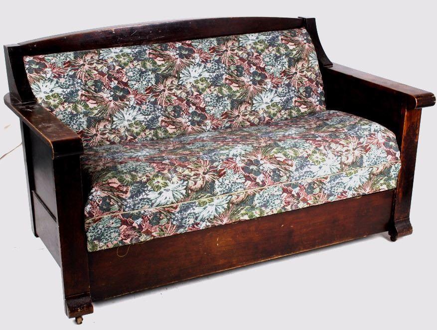 Stupendous Mission Empire Antique Fold Out Sleeper Sofa Couch Inzonedesignstudio Interior Chair Design Inzonedesignstudiocom