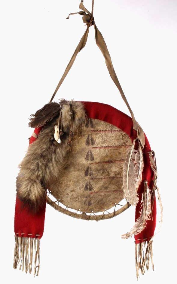 Blackfoot Indian Rawhide Warrior Shield 20th C