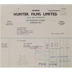 John Lennon Signed 1967 Receipt