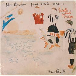 John Lennon Signed Album With Sketch