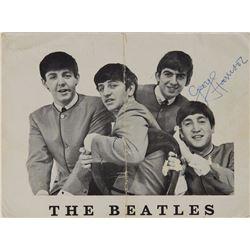 George Harrison Twice-Signed Handwritten Letter on Fan Club Photograph