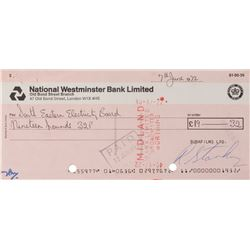 Ringo Starr Signed Check